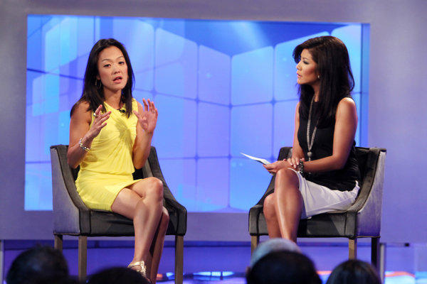 with Julie Chen