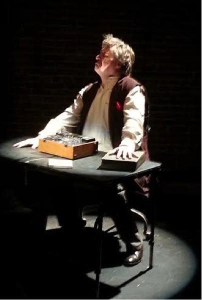 Barkhimer as Krapp. Photo credit Marc S. Miller.