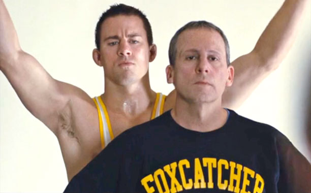 Channing Tatum & Steve Carell in Foxcatcher