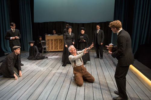 Patrick Galligan and the cast of The Sea  (photo by David Cooper)